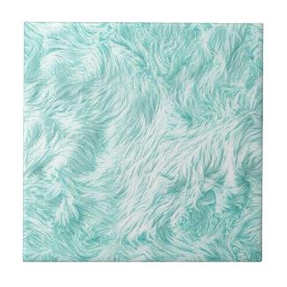 Blue Fuzzy Pattern Tile