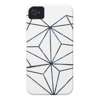 blue-galaky-geo-heart iPhone 4 case