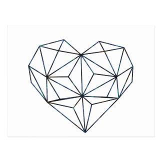 blue-galaky-geo-heart postcard