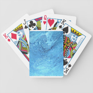 Blue Galaxy Bicycle Playing Cards