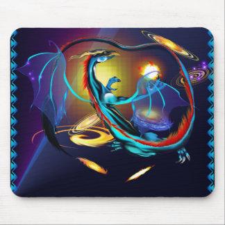 Blue Galaxy Dragon_Mousepad Mouse Pad