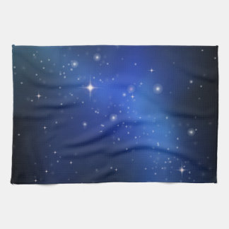 Blue galaxy kitchen towel