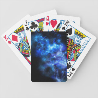 Blue Galaxy Print Bicycle Playing Cards