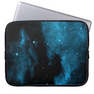 Blue Galaxy Print Laptop Sleeve