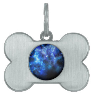 Blue Galaxy Print Pet ID Tag