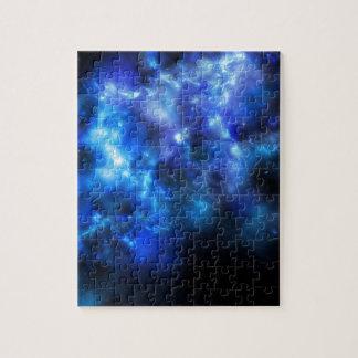 Blue Galaxy Print Puzzles