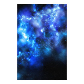 Blue Galaxy Print Stationery
