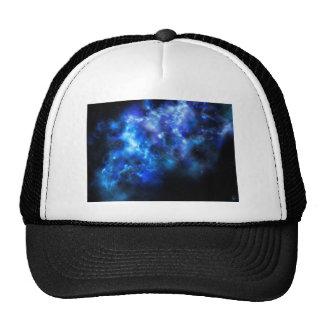 Blue Galaxy Print Trucker Hat