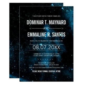 Blue Galaxy Wedding Invitation