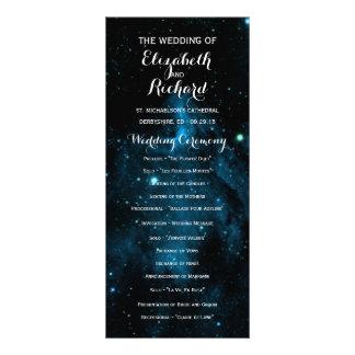Blue Galaxy Wedding Programs
