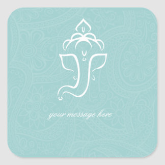 Blue Ganesha Stickers