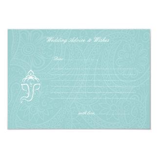 Blue Ganesha Wedding Advice & Wishes Cards