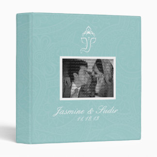 Blue Ganesha Wedding Photo Album Vinyl Binder