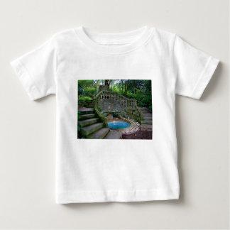 Blue Garden Fountain Baby T-Shirt
