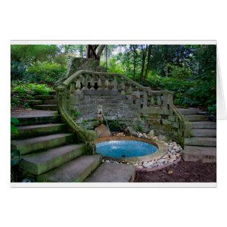 Blue Garden Fountain Card