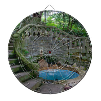 Blue Garden Fountain Dartboard