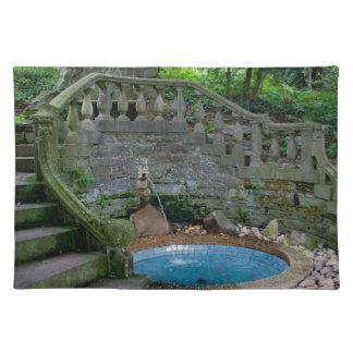Blue Garden Fountain Placemat
