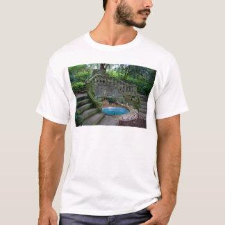 Blue Garden Fountain T-Shirt