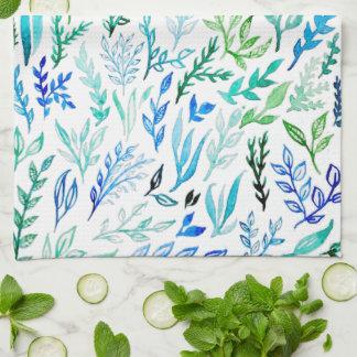 Blue Garden Kitchen Towel