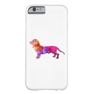 Blue Gascony Basset in watercolor Barely There iPhone 6 Case