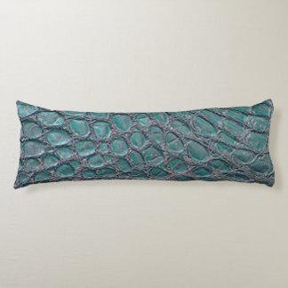 Blue Gator Print Body Pillow