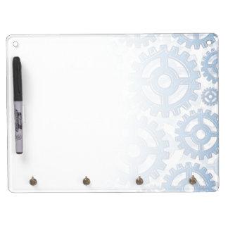 Blue gear wheels dry erase whiteboards