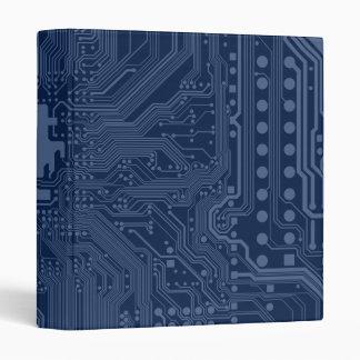 Blue Geek Motherboard Circuit Pattern Binder