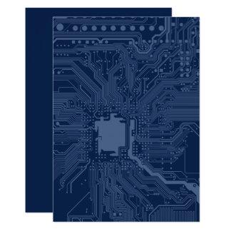 Blue Geek Motherboard Circuit Pattern Card
