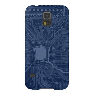 Blue Geek Motherboard Circuit Pattern Case For Galaxy S5