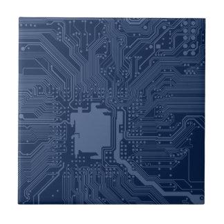 Blue Geek Motherboard Circuit Pattern Ceramic Tiles