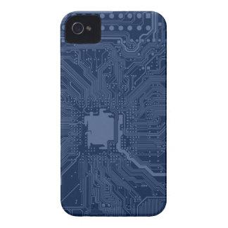 Blue Geek Motherboard Circuit Pattern iPhone 4 Cover