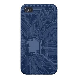 Blue Geek Motherboard Circuit Pattern iPhone 4 Covers