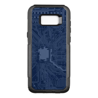 Blue Geek Motherboard Circuit Pattern OtterBox Commuter Samsung Galaxy S8+ Case