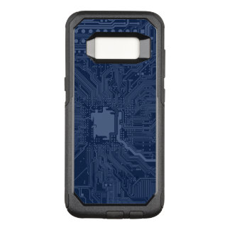 Blue Geek Motherboard Circuit Pattern OtterBox Commuter Samsung Galaxy S8 Case