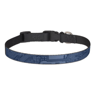 Blue Geek Motherboard Circuit Pattern Pet Collar