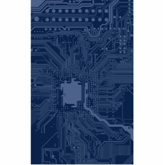 Blue Geek Motherboard Circuit Pattern Photo Sculpture Ornament