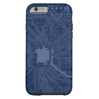 Blue Geek Motherboard Circuit Pattern Tough iPhone 6 Case