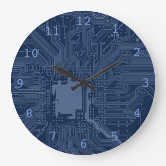 Blue Geek Motherboard Circuit Pattern Wall Clock