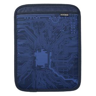 Blue Geek Motherboard Pattern Sleeves For iPads