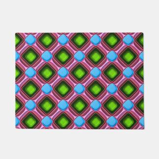 Blue Gem Pattern Doormat