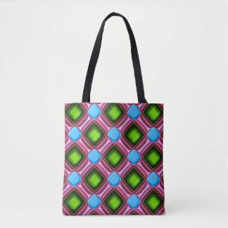 Blue Gem Pattern Tote Bag