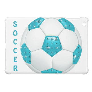 Blue Gemstones Soccer Ball iPad Mini Case