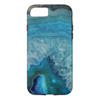 Blue Geode Minerals Cell Phone Case