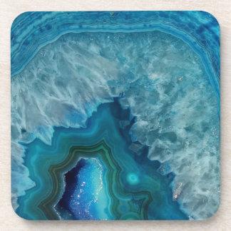 Blue Geode Rock Mineral Agate Crystal Image Beverage Coaster