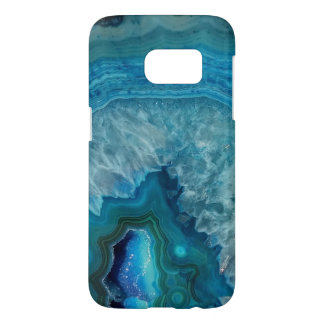 Blue Geode Rock Mineral Agate Crystal Image Samsung Galaxy S7 Case