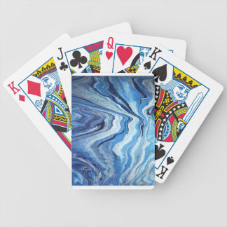 Blue Geode Sparkle Bicycle Playing Cards