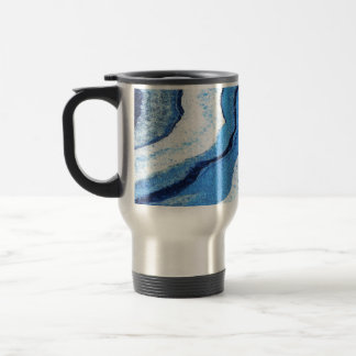 Blue Geode Sparkle Travel Mug