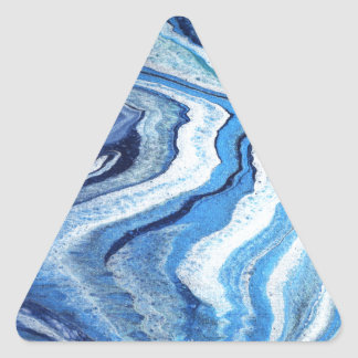 Blue Geode Sparkle Triangle Sticker