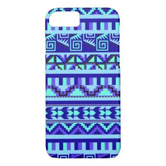 Blue Geometric Abstract Aztec Tribal Print Pattern iPhone 7 Case