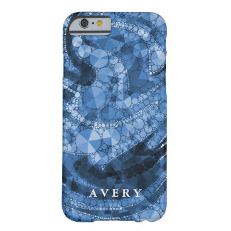 Blue Geometric Abstract Triangles and Circles Barely There iPhone 6 Case
